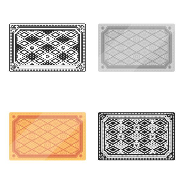 türkischen teppich symbol im cartoon-stil, die isoliert auf weißem hintergrund. türkei-symbol lager vektor illustration web - wollteppich stock-grafiken, -clipart, -cartoons und -symbole