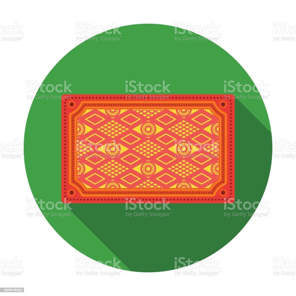 土耳其地毯在白色背景上孤立的平面樣式的圖示。土耳其象徵股票向量圖。 免版稅 土耳其地毯在白色背景上孤立的平面樣式的圖示土耳其象徵股票向量圖 向量插圖及更多 商標 圖片