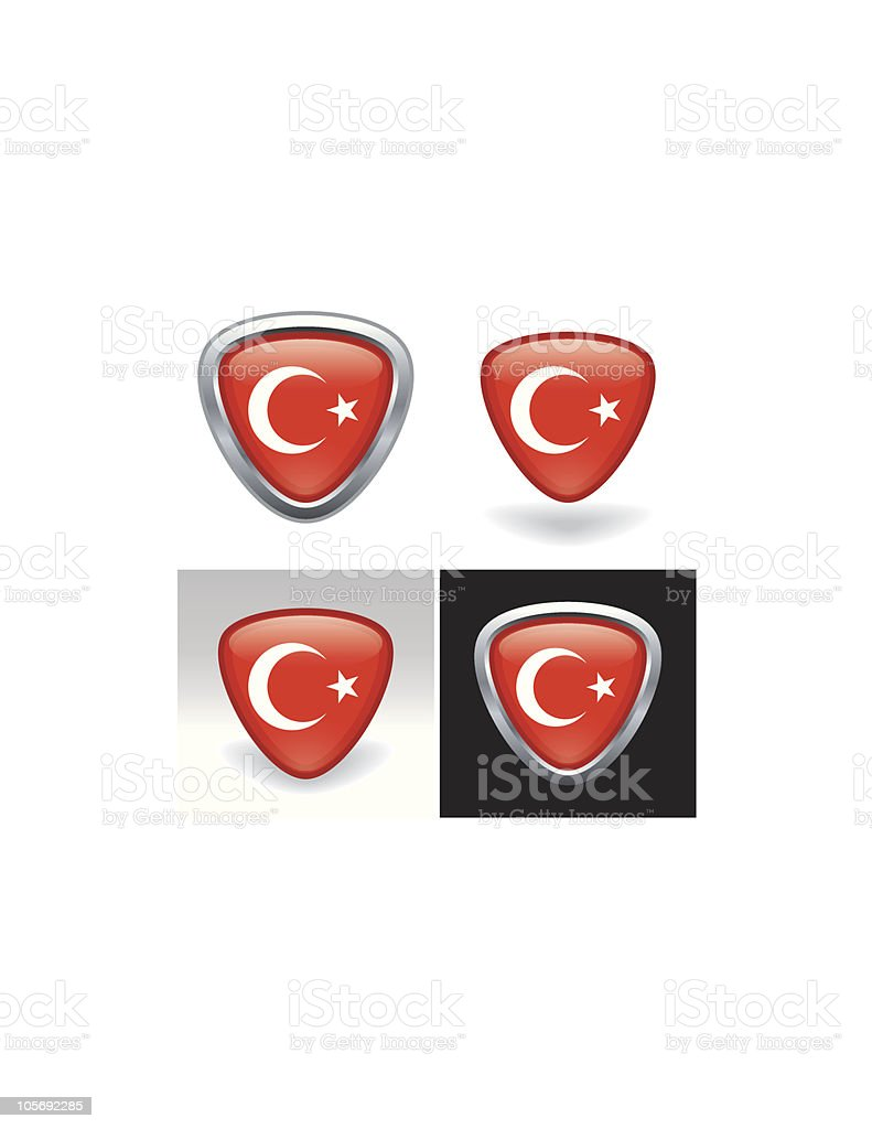 Turkish Flag Crest royalty-free turkish flag crest stock vector art & more images of asia
