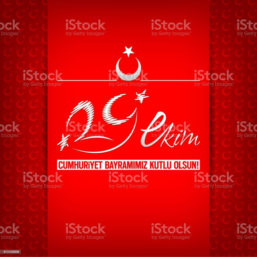 Turkish Flag October 29 Republic Day Celebration Turkish