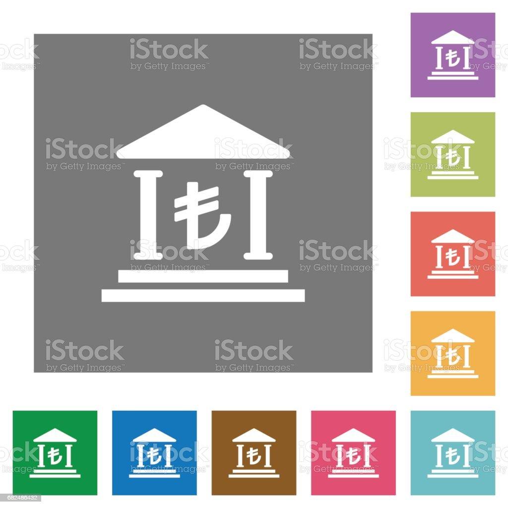 Turkish Lira bank square flat icons royalty-free turkish lira bank square flat icons stock vector art & more images of applying