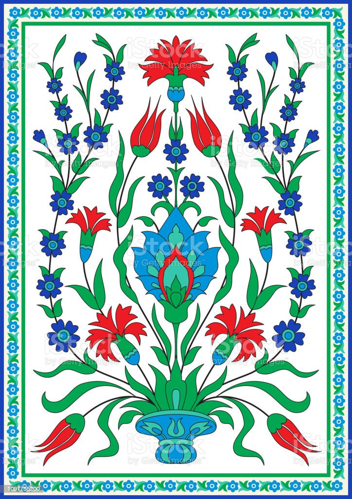 Turkish Style Floral Design Stock Illustration - Download Image Now