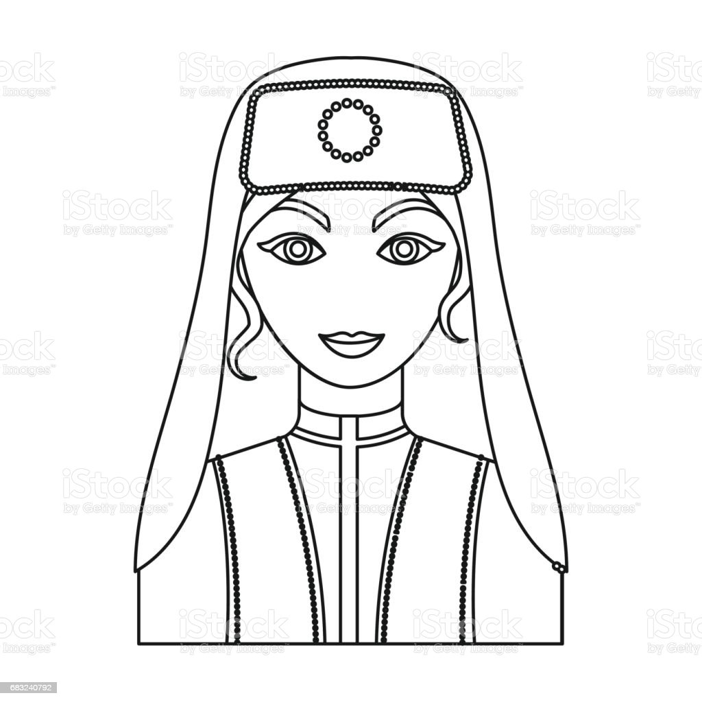 Turkish woman icon in outline style isolated on white background. Turkey symbol stock vector illustration. royalty-free turkish woman icon in outline style isolated on white background turkey symbol stock vector illustration 0명에 대한 스톡 벡터 아트 및 기타 이미지