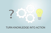 istock Turn knowledge into action 1326330370