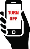 Turn off mobile phones icon
