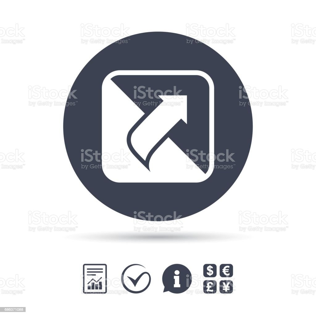 Turn page sign icon. Peel back sheet corner. vector art illustration