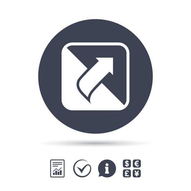 turn page sign icon. peel back sheet corner. - skórka stock illustrations