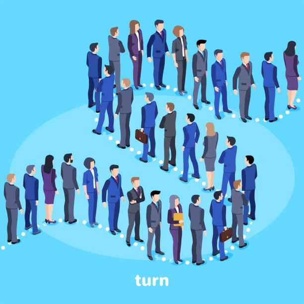turn vector art illustration