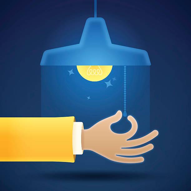 turning on or off a light - elektrik lambası stock illustrations