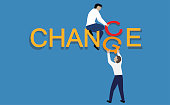 "istock Turning the word ""change"" to ""chance"".Personal development and career growth. 1197694778"