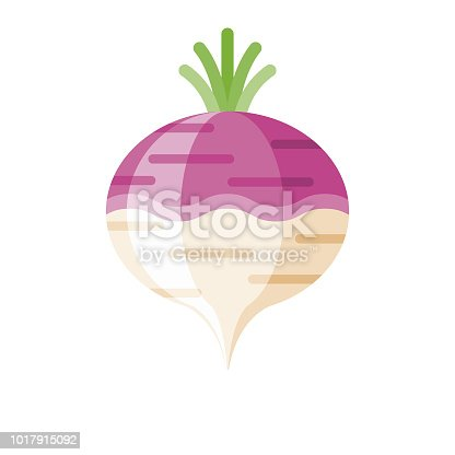 A flat design styled vegetable icon with a long side shadow. Color swatches are global so it's easy to edit and change the colors. File is built in the CMYK color space for optimal printing.