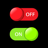 turns on-off button vector design for web  application