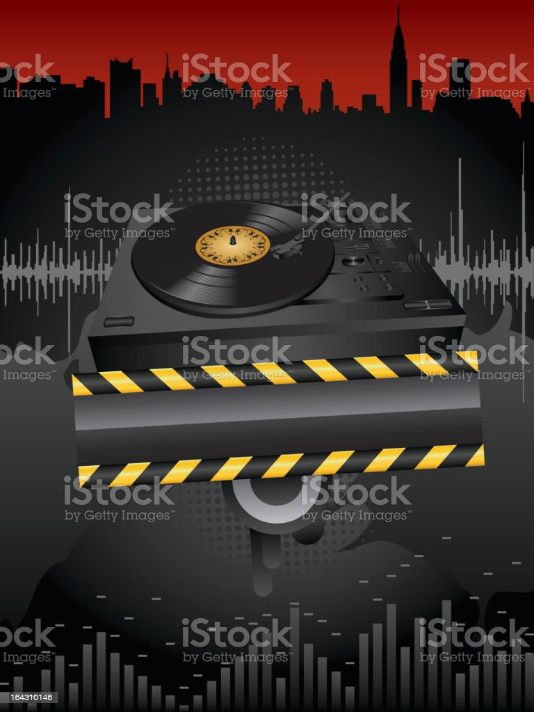Turntable background royalty-free stock vector art