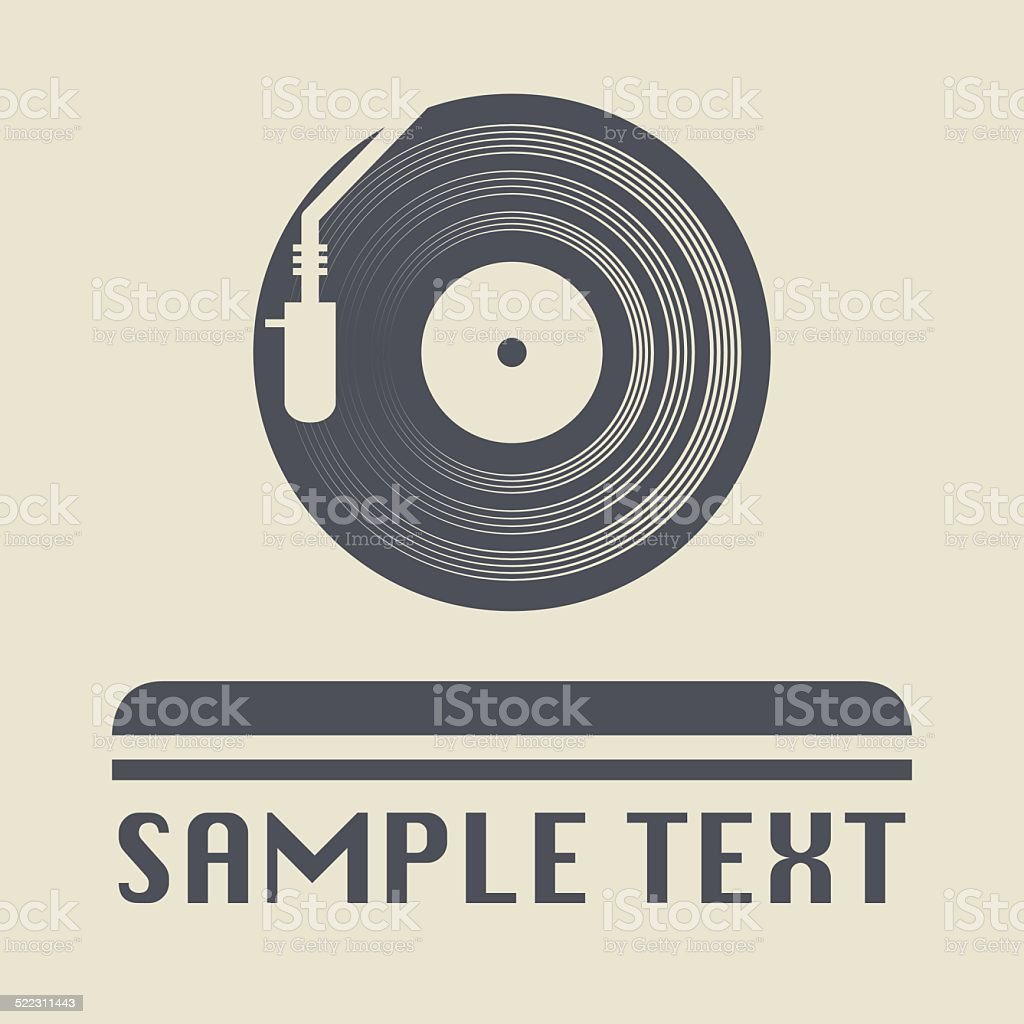 Turntable icon or sign vector art illustration