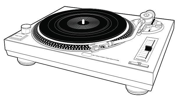 ilustrações, clipart, desenhos animados e ícones de dj toca-discos - toca discos