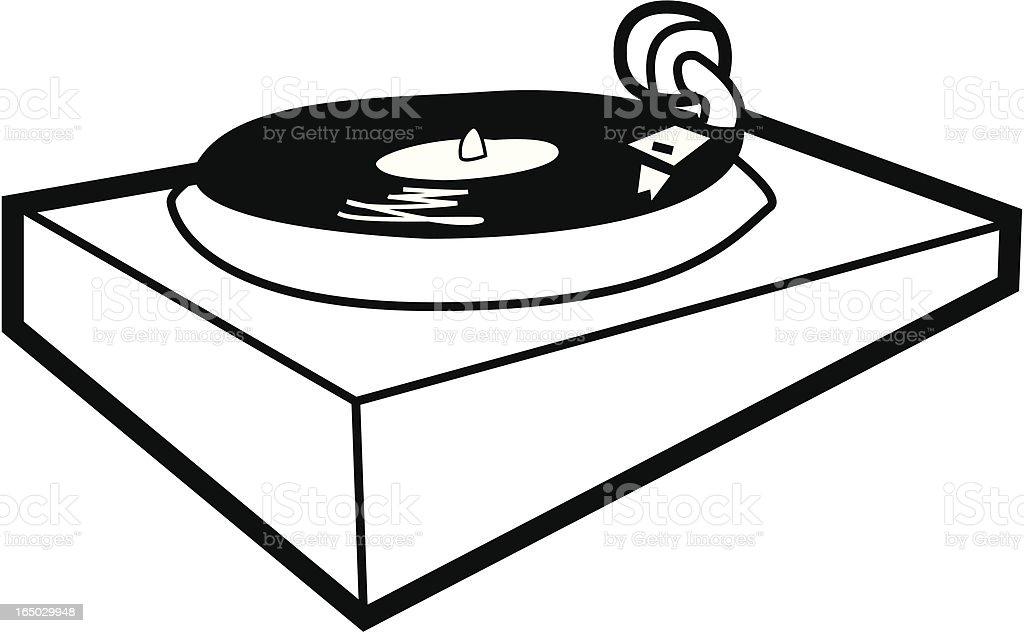 DJ turntable royalty-free stock vector art