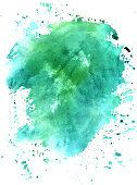 Turquoise abstract watercolour background texture, scalable vect