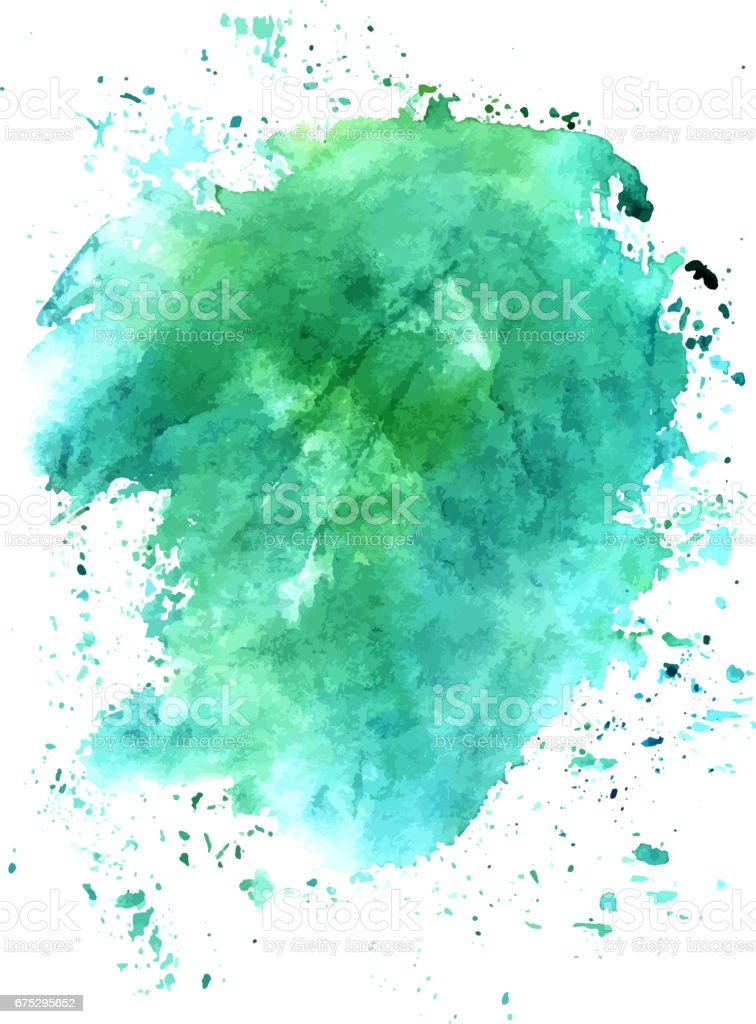 Turquoise abstract watercolour background texture, scalable vect vector art illustration