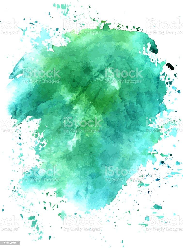 Textura de fondo turquesa Acuarela abstracta, vect escalable - ilustración de arte vectorial