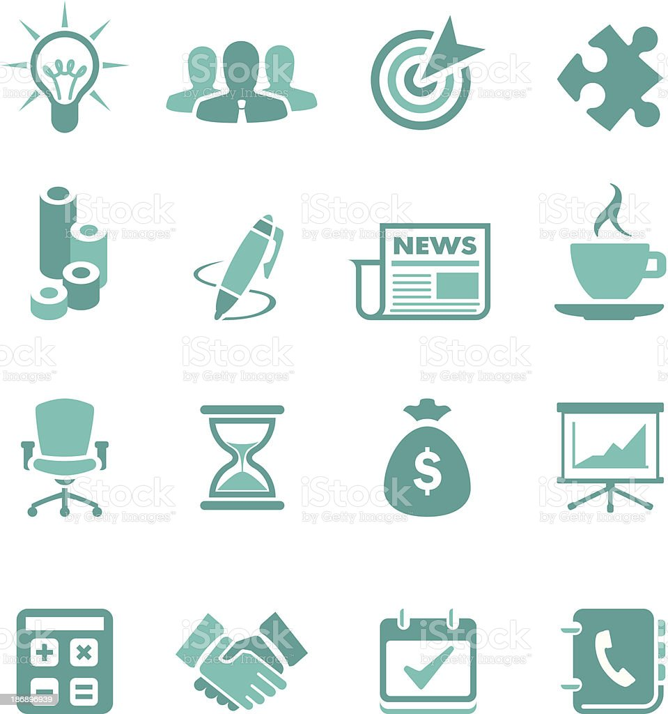 Turquoise Business Icon Set royalty-free turquoise business icon set stock vector art & more images of aiming