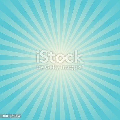 Vector of turquoise color space starburst background. EPS AI 10 file format.