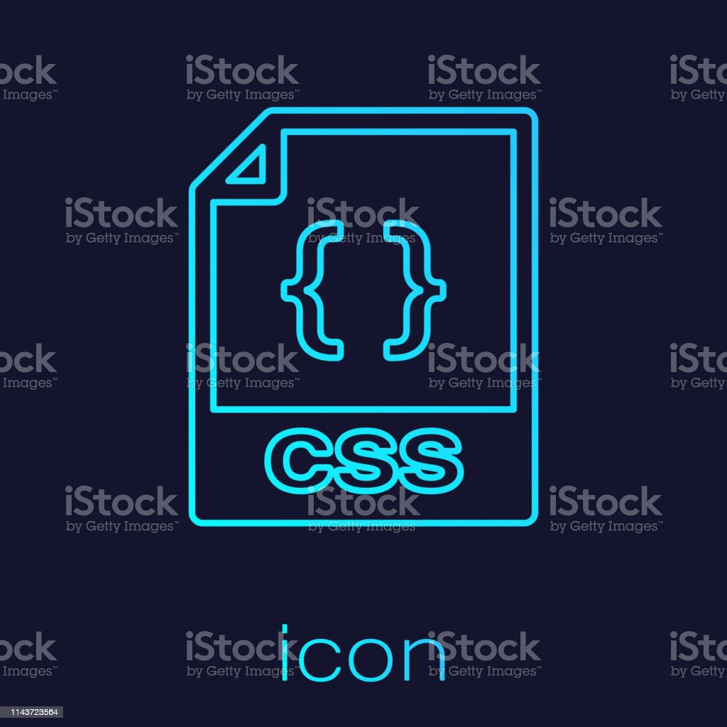 Turquoise Css File Document Icon Download Css Button Line