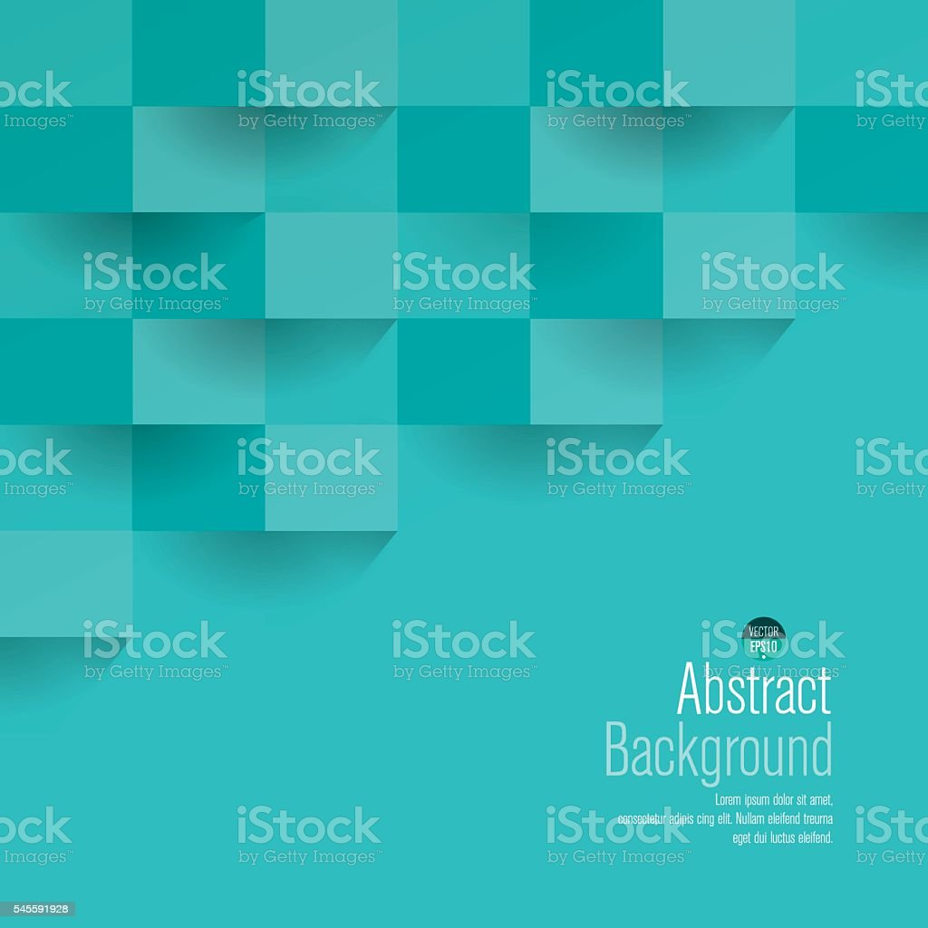 Turquoise geometric vector background. - ilustração de arte em vetor