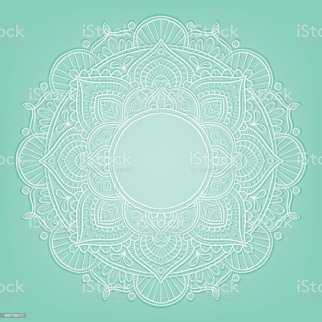 Conception de mandala turquoise conception de mandala turquoise – cliparts vectoriels et plus d'images de abstrait libre de droits