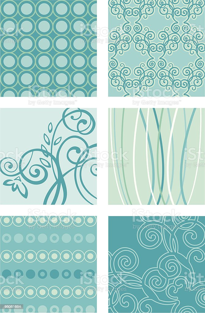 Turquoise Modern pattern royalty-free stock vector art