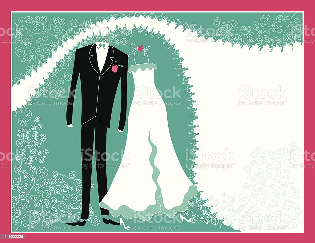 Turquoise And Pink Wedding Invitations: Turquoise Pink Wedding Invitation Stock Vector Art & More