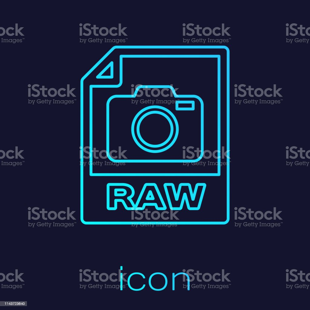 Turquoise Raw File Document Icon Download Raw Button Line Icon