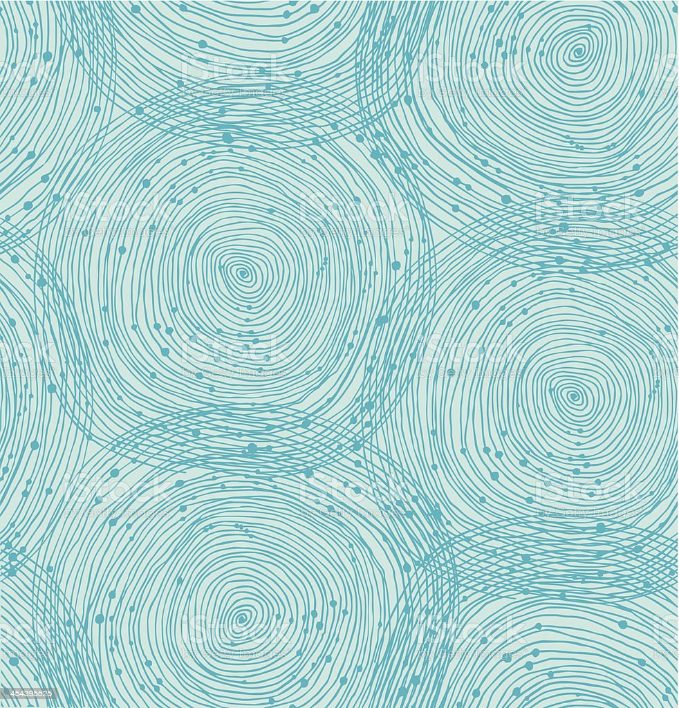 Turquoise spiral pattern vector art illustration