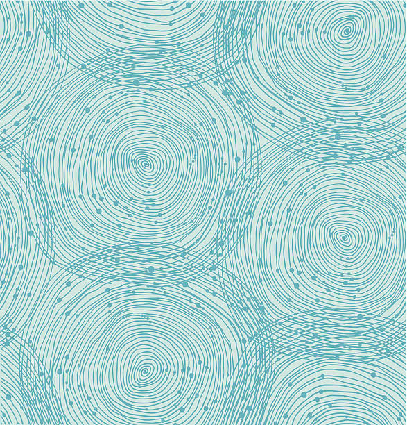 turquoise spiral pattern - vintage nature stock illustrations, clip art, cartoons, & icons