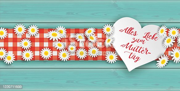 istock Turquoise Wood Daisy Heart Muttertag Table Cloth Header 1220711533