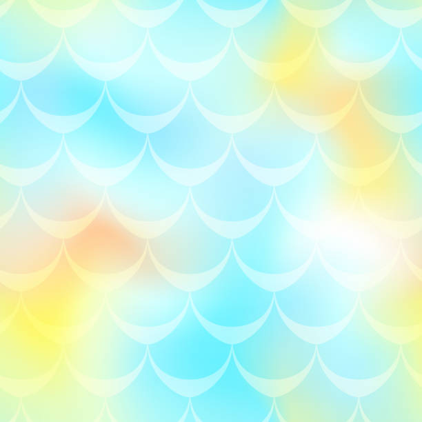 royalty free background of fish scale template clip art vector