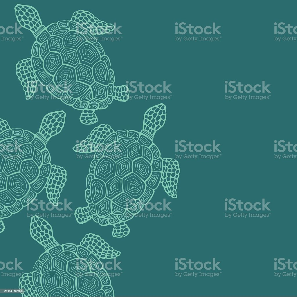 Turtle 2 vector art illustration