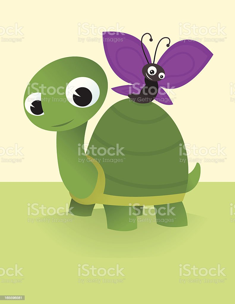 Turtle and Butterfly royalty-free turtle and butterfly stock vector art & more images of animal