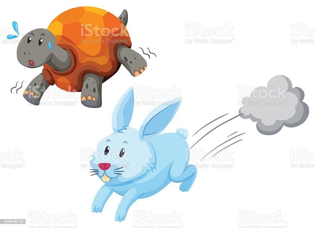 Course de lapin et la tortue course de lapin et la tortue vecteurs libres de droits et plus d'images vectorielles de courir libre de droits