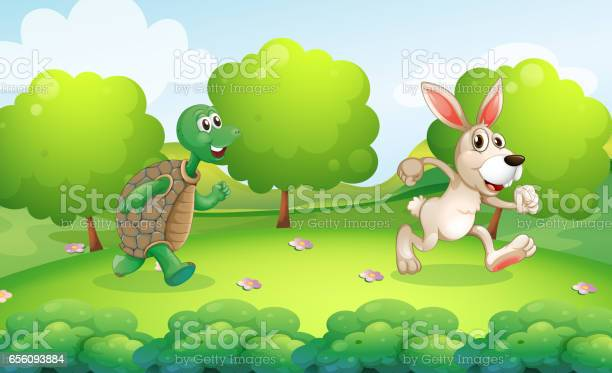 Turtle and rabbit running in park vector id656093884?b=1&k=6&m=656093884&s=612x612&h=kugyjmvzave7gl0dvu6a suuf2 uyatzj6aoafxf4fa=
