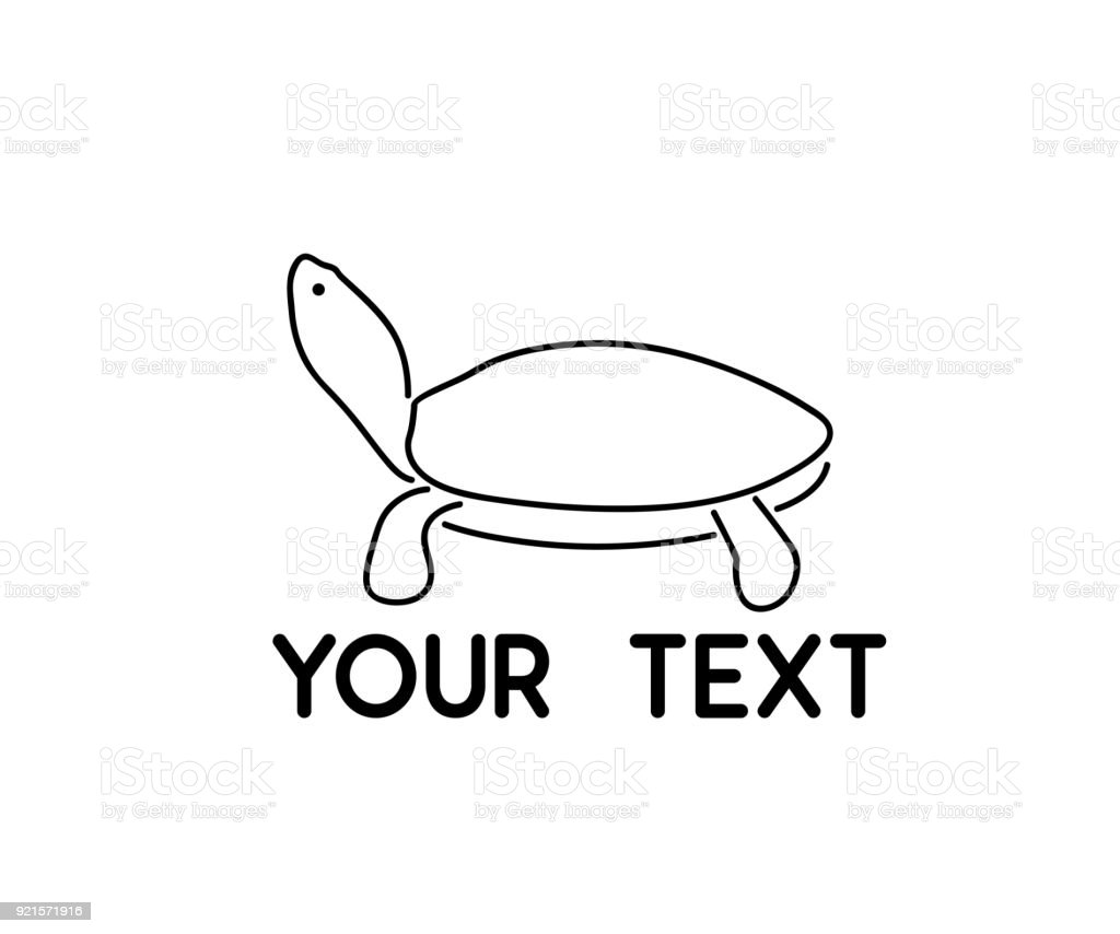 Turtle Animal Line Symbol Design Stock Vector Art More Images Of