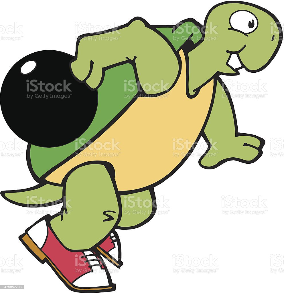 Turtle Bowling C royalty-free turtle bowling c stock vector art & more images of 2011