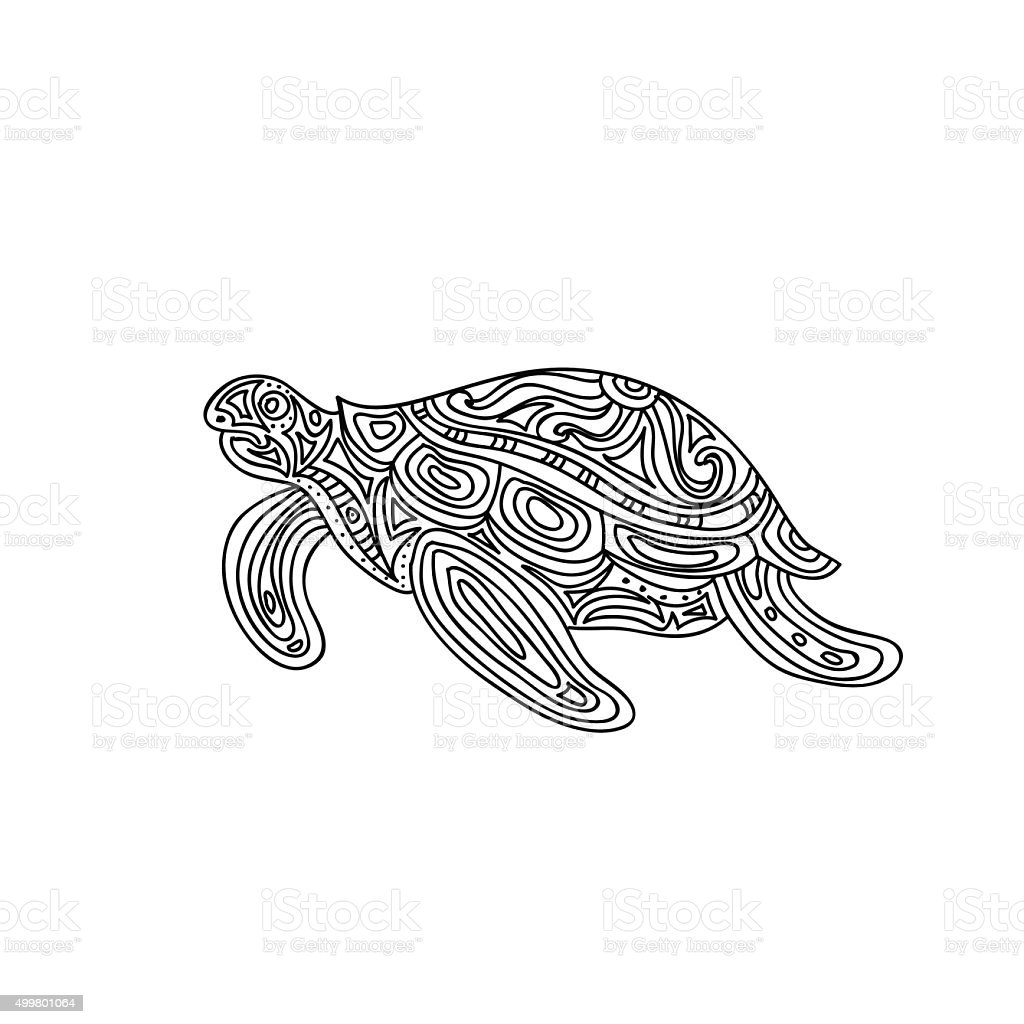 Turtle Coloring Page Stock Vector Art & More Images of 2015 ...