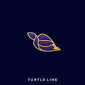 Turtle Designs Concept Illustration Vector Template. Suitable for Creative Industry, Multimedia, entertainment, Educations, Shop, and any related business Colorful Designs Concept Illust