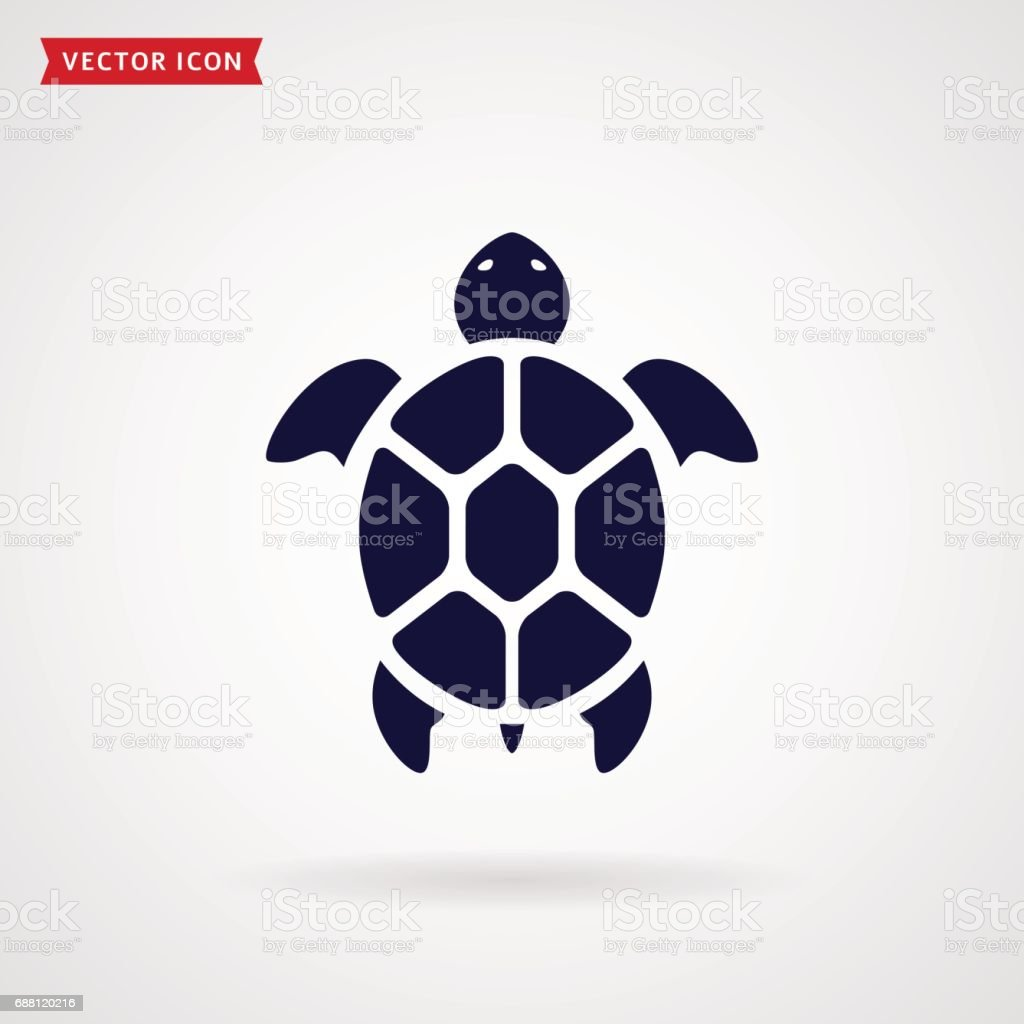 Turtle icon. vector art illustration