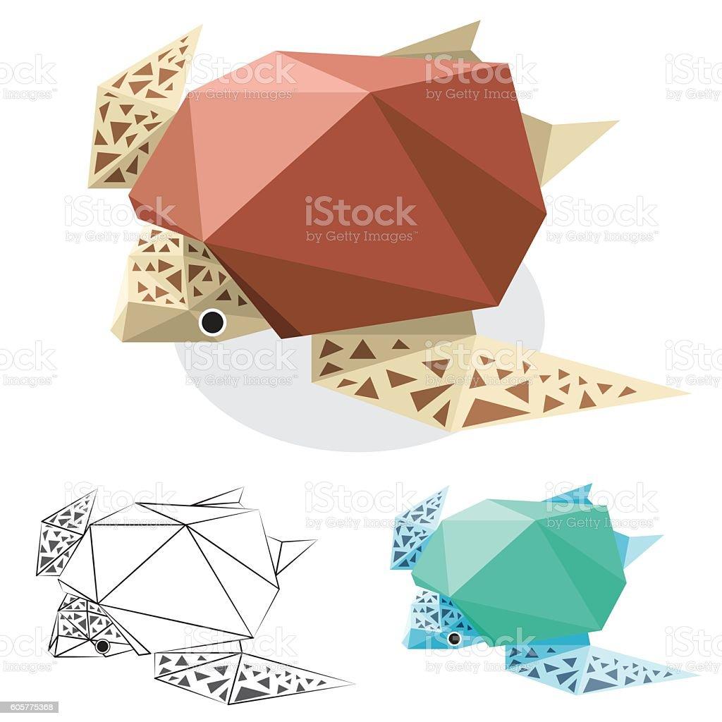 Turtle Low Polygon Stock Vecteur Libres De Droits 605775368 Istock