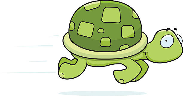 Royalty Free Turtle Running Clip Art, Vector Images ...