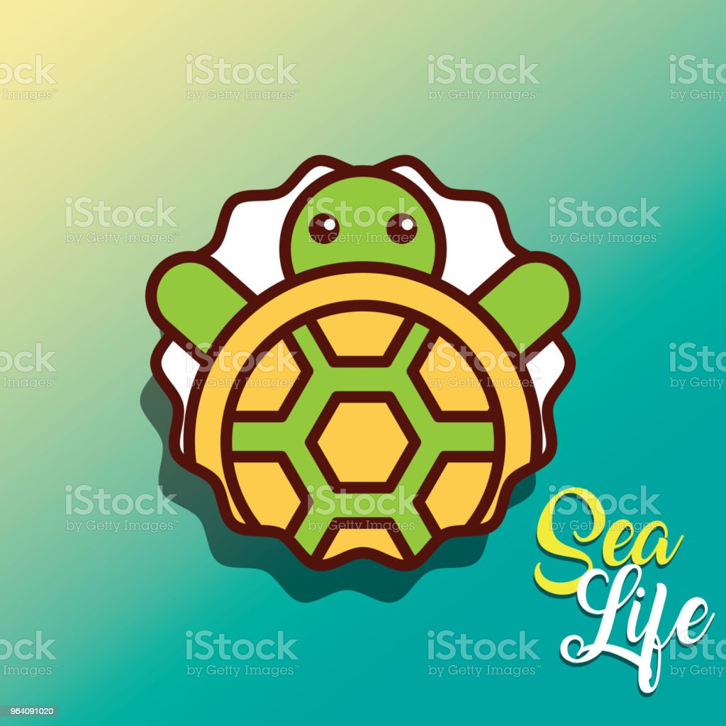 turtle sea life cartoon - Royalty-free Animal stock vector