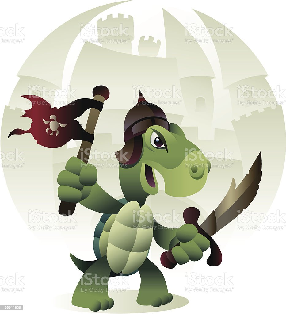 turtle soldier - Royalty-free Animal Shell stock vector
