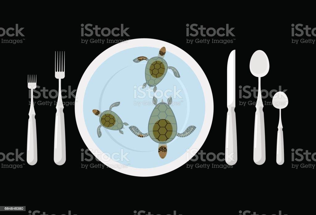 Ilustración de Sopa De Tortuga Alimentos De Delicatessen Cubiertos ...