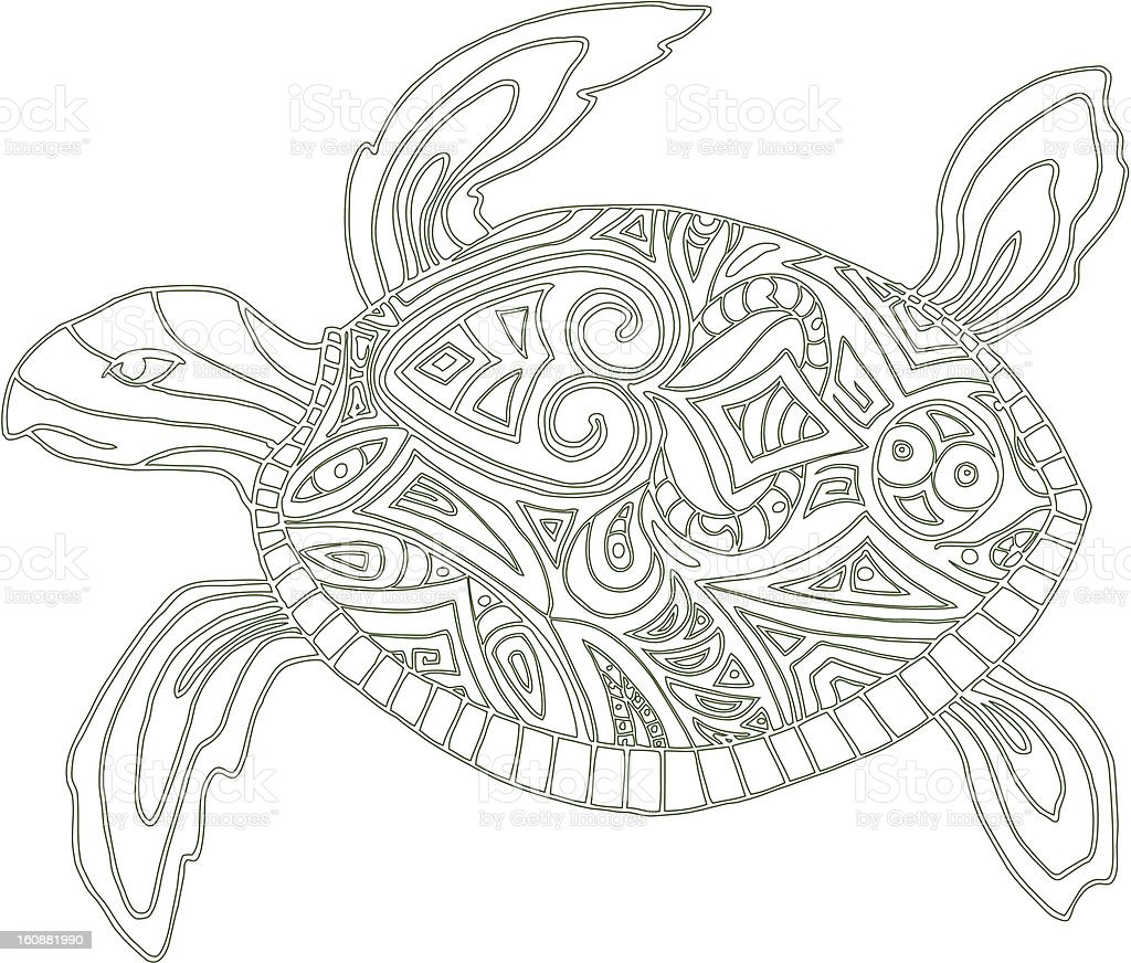 Turtle royalty-free turtle stock vector art & more images of animal